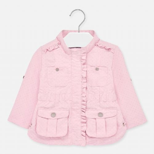 Rose Polka Dot Girls Jacket